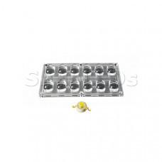Блок линз 12BST-E (130x65°, 12x LED)