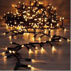 Гирлянда «Кластер» 10 м, 400 LED, черный каучук, IP67, соединяемая, цвет свечения теплый белый NEON-NIGHT