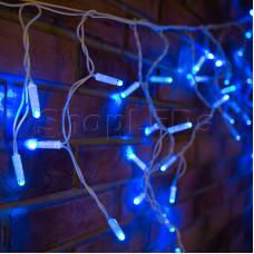 Гирлянда Айсикл (бахрома) светодиодный, 4,8 х 0,6 м, белый провод, 220В, диоды синие